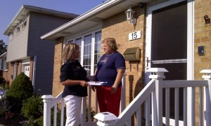 Diane canvassing 2